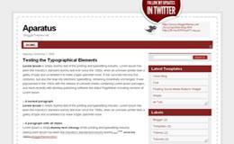 Aparatus Blogger Theme