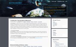Astronomy Blogger Theme