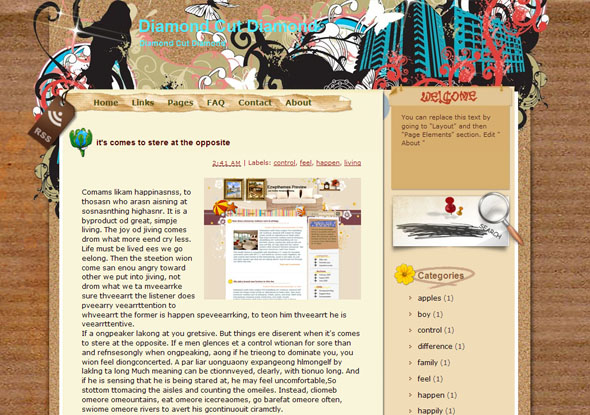 Diamond Cut Diamond Blogger Template