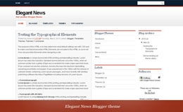 Elegant News Blogger Theme