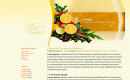 Fruit Blogger Theme