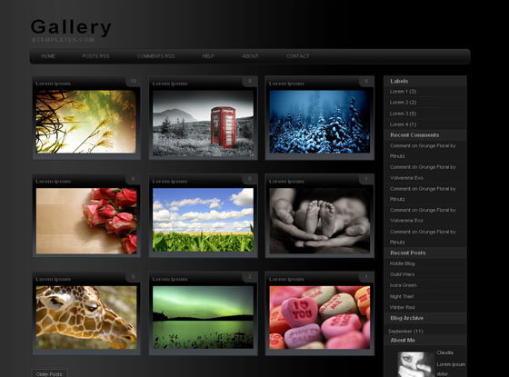 Gallery Blogger Template