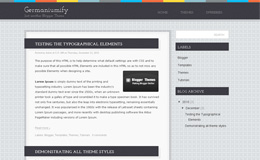 Germaniumify Blogger Theme