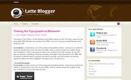 Latte Blogger Blogger Theme