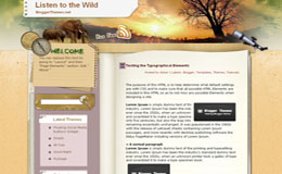 Listen to the wild Blogger Theme
