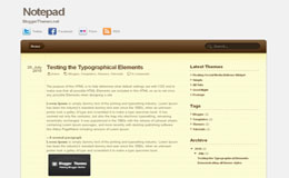 Notepad Blogger Theme