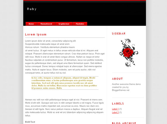 Ruby Blogger Template