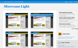 Showcase Light Blogger Theme
