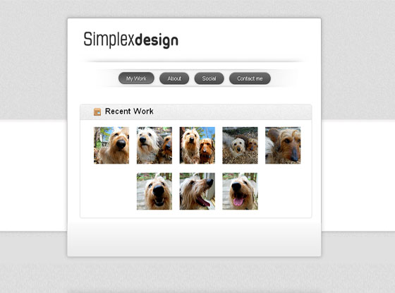 Simplex Visiting card blogger template