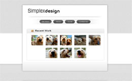 Simplex Vcard Blogger Theme