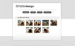 Simplex Vcard Blogger Theme