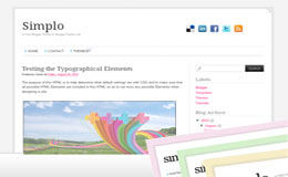 Simplo Blogger Theme