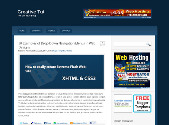 Tut Theme Blogger Template
