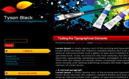 Tyson Black Blogger Theme
