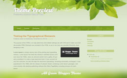 All Green Blogger Theme