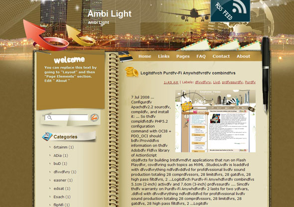 ambi light blogger template