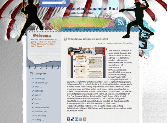 baseball japanese soul blogger theme