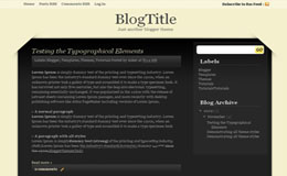 Black Corners Blogger Theme