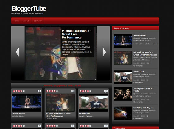 Blogger Tube Blogger Template | Blogger Themes and Blogger Templates