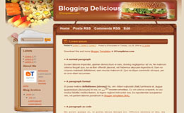 BloggingDelicious Blogger Theme