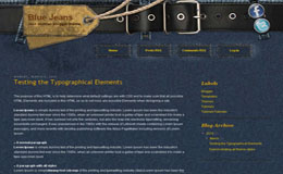 Blue Jeans Blogger Theme