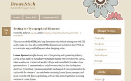 Brown stitch Blogger Theme