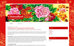China Red Blogger Theme