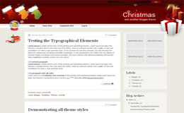 Christmas Blogger Theme