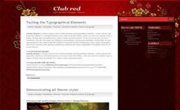 ClubRed Blogger Theme