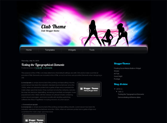 Club Blogger Theme