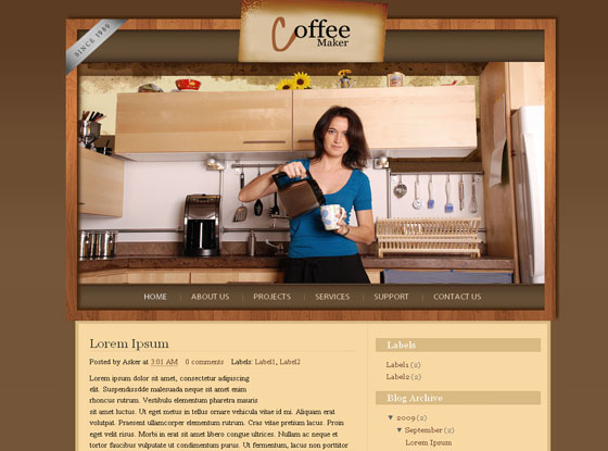 coffee maker blogger template