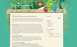Crazy Monsters Blogger Theme