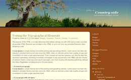 Country side Blogger Theme