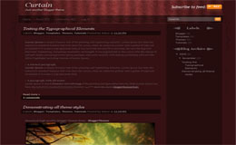 Curtain Blogger Theme