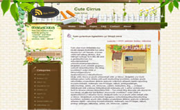 Cute Cirrus Blogger Theme
