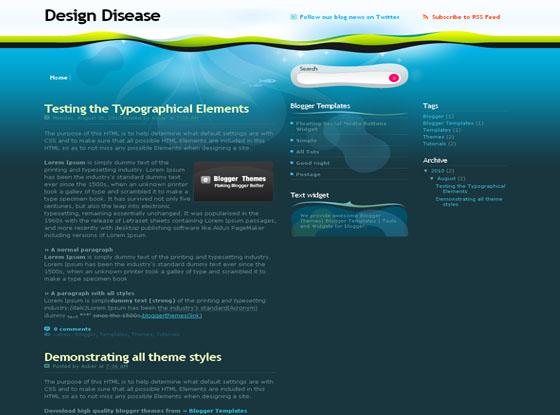 Design Disease Blogger Theme