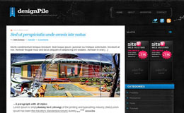 DesignPile Blue Blogger Theme