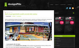 DesignPile Green Blogger Theme