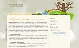 Dreamy School Blogger Theme