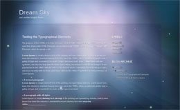 Dream Sky Blogger Theme