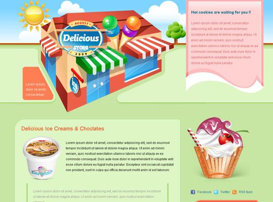 delicious store blogger template