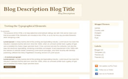 Elitive Blogger Theme