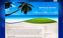 Emerald waters Blogger Theme
