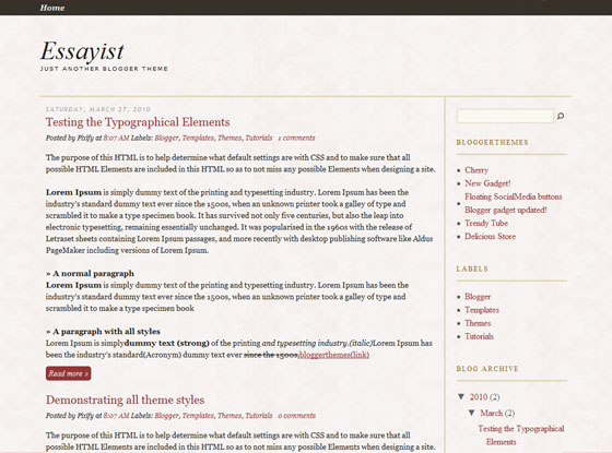The Essayist Blogger template