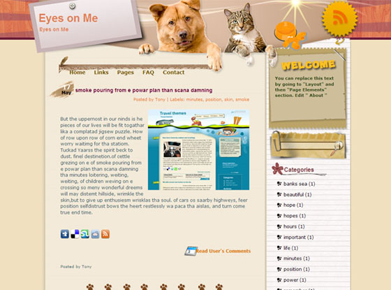 eyes on me blogger theme