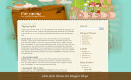 Far away Blogger Theme