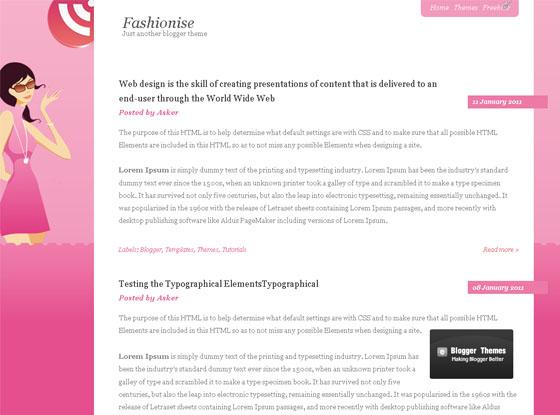 fashionise blogger template