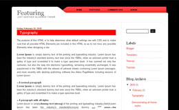 Featuring Blogger Theme