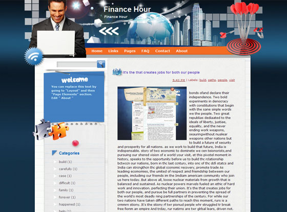 finance hour blogger theme