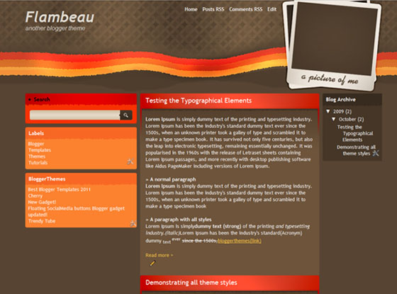 flambeau blogger template